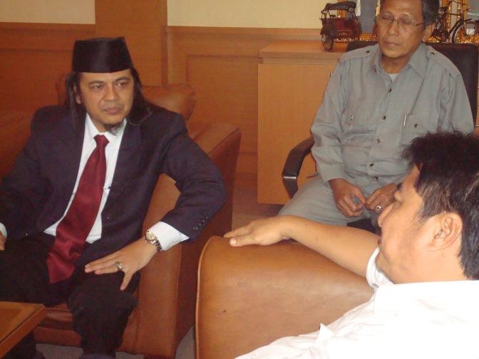 Wagub Sumsel Memberikan Arahan kepada sultan palembang